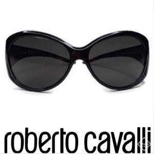 Just Cavalli Vintage Black Oversized Sunglasses